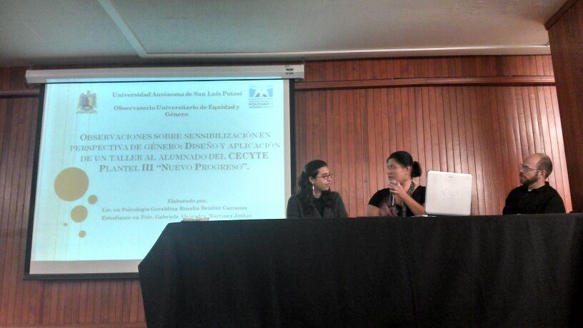 Mesa de Trabajo 2: Las Masculinidades en el Contexto Universitario (Encuentro Nacional: Masculinidades, noviembre 2013, San Luis Potosí)